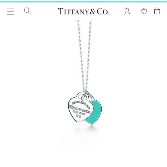 Tiffany & Co. Jewelry - Double Heart Tag Pendant